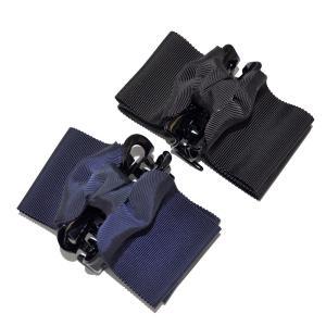 グログラン バンスクリップ ダブルリボン 紺/黒 完全日本製 百貨店品質 happy-clover