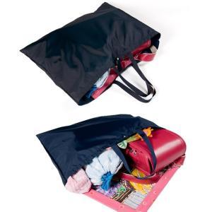 お受験 バッグ サブバッグ 大きめ ママ ナイロン お母様用 お迎えランドセルバッグ ビッグトートバッグ 大容量 紺 黒 折りたたみバッグ|happy-clover