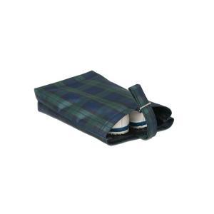 お受験 上履き入れ エスパニアチェック グリーン シューズバッグ シューズケース 靴入れ 袋 靴袋 チェック 子供 幼稚園 小学校 高学年 日本製|happy-clover
