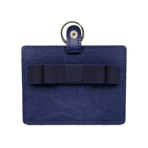 ポスト投函送料無料 ロングスクエアリボン 合成皮革製IDカードケース 保護者証入れ/入校証入れ・社員証入れ・定期入れ カードケース パスケース|happy-clover
