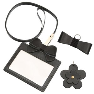 ポスト投函送料無料 選べる日本製本革ブラックチャーム 本革製IDカードケース 保護者証入れ 入校証入れ 社員証入れ 定期入れ カードケース|happy-clover