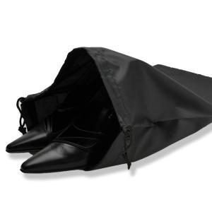 お受験 下足袋 ナイロン製 靴袋 下足入れ シューズバッグ シューズケース 靴入れ 袋 巾着 巾着タイプ お子様 子供 ママ パパ 母親 父親 紺 黒|happy-clover|02