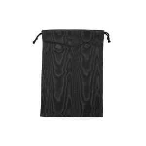 お受験 スリッパ 袋 純正品 モアレスリッパ袋 日本製 スリッパ入れ スリッパ袋 スリッパ携帯用 巾着 上品 携帯スリッパ入れ 携帯スリッパ巾着 黒 お母様 母親|happy-clover