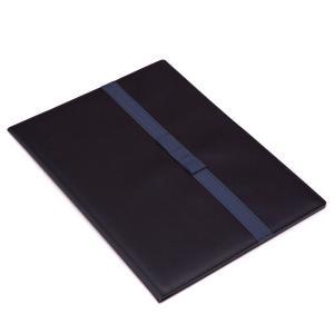 日本製願書ホルダー グログランリボン A4サイズ紺色無地受験票書類入れ 芯張りハードタイプ happy-clover