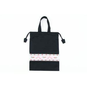 スモッキング手刺繍巾着 バレエ トゥシューズ happy-clover