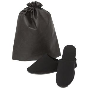 お受験 スリッパ ヒール 高品質 ヒールスリッパ 黒 2サイズ 収納袋付き お受験スリッパ フォーマル ママ 室内用|happy-clover