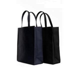 お受験 バッグ サブバッグ 自立 ママ パパ 縦型 縦 お父様も使える無地 紺 黒 マチ付き お受験バッグ お母様用 お父様用|happy-clover