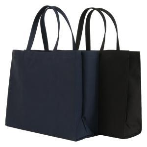 お受験 バッグ サブバッグ 自立 ママ パパ 横型 横 お父様も使える無地 紺 黒 マチ付き お受験バッグ お母様用 お父様用|happy-clover