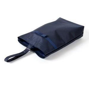 お受験 下足袋 リボン付き 紺色 ナイロン製 お子様用 シューズバッグ タイプB  靴袋 下足入れ ...