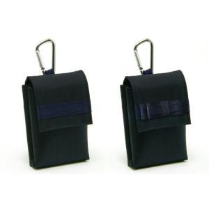 ポスト投函送料無料 キッズケータイ ケース ナイロン製 ランドセル対応 紺無地 防犯ブザーケース 携帯電話ケース みまもり携帯ケース|happy-clover