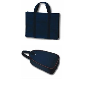 H型 紺色ナイロン製レッスンバッグとシューズバッグ セット happy-clover