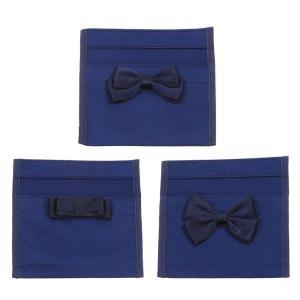 リボン付けポケット Wポケットタイプ 安全ピン付き  選べる3種リボン 移動ポケット|happy-clover