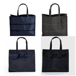 お受験 バッグ ママ サブバッグ 横型 横 リボンサブバッグ グログランリボン3段 幅広リボン 紺 黒 マチ付き b4 ナイロン お受験バッグ|happy-clover