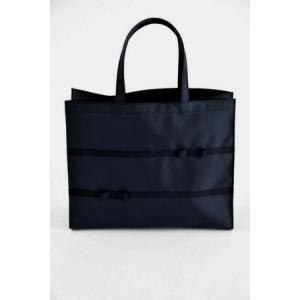 お受験 バッグ ママ サブバッグ 横型 横 リボンサブバッグ グログランリボン3段 幅広リボン 紺 黒 マチ付き b4 ナイロン お受験バッグ|happy-clover|02