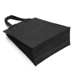 お受験 バッグ ママ サブバッグ 縦型 縦 リボンサブバッグ  Lサイズ 紺 黒 マチ付き B4 お受験バッグ お母様用 バック|happy-clover|08