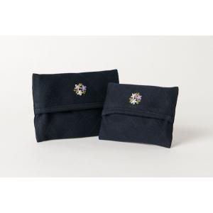 手刺繍ティッシュケース お花 2サイズ|happy-clover