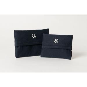 手刺繍ティッシュケース サッカーボール 2サイズ|happy-clover