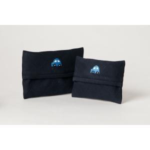 手刺繍ティッシュケース 青い車 2サイズ|happy-clover