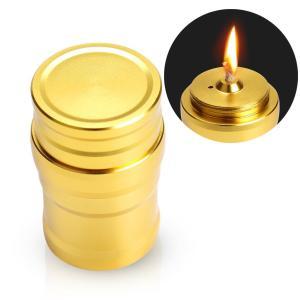 ミニ アルコールランプ オイルランプ ミニサイズ アルミ 小さい 防災用