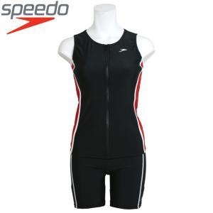 フィットネス 水着 レディース speedo(スピード) ノースリーブ 女性用 タンキニ セパレート水着 スイムウェア 全3色