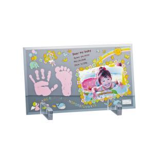 フォトデコム クリアガラス手形・足形【お仕立て券】 PDM10101| 内祝い 出産祝い 御祝 ギフト 贈り物 贈答品 誕生祝い BABY 記念品|happy-giftnomori