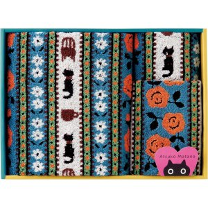 アツコマタノ タオルセット ブルー TT89400086-BL| 内祝い 結婚祝い 出産祝い 御祝 ギフト 贈り物 贈答品 記念品 お返し ご挨拶 ATSUKO MATANO|happy-giftnomori
