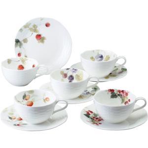 ナルミ ルーシーガーデン 5客アソートティー・コーヒー碗皿 96010-23067P| 内祝 結婚祝 出産祝 御祝 ギフト 贈り物 記念品 お返し NARUMI|happy-giftnomori