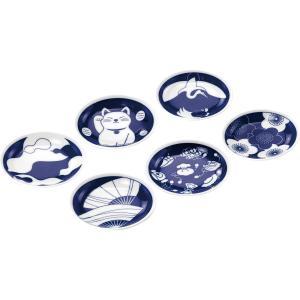 藍染縁起 手塩皿揃 EN-150|happy-giftnomori