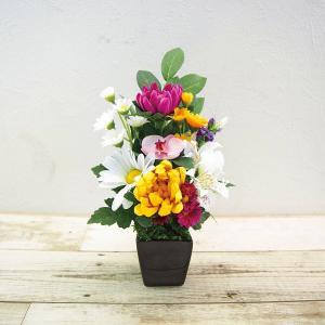 SC触媒加工 長く美しい仏花[彩](アートフラワー) BUGA-01| 内祝い 結婚祝い 出産祝い 御祝 ギフト 贈り物 贈答品 お中元 お歳暮 記念品 お返し|happy-giftnomori