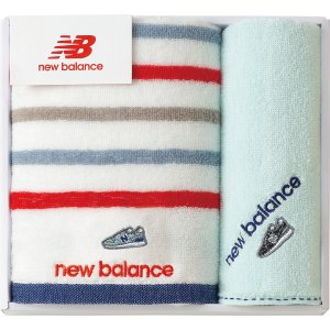 new balance フェイスタオル・タオルハンカチ ブルー NBP-15-BL| 内祝い 結婚祝い 出産祝い 御祝 ギフト 贈り物 贈答品 お中元 お歳暮 記念品 お返し|happy-giftnomori