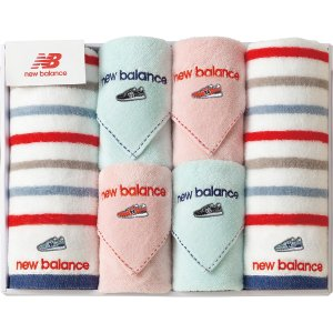 new balance フェイスタオル2P・タオルハンカチ4P NBP-40| 内祝い 結婚祝い 出産祝い 御祝 ギフト 贈り物 贈答品 お中元 お歳暮 記念品 お返し|happy-giftnomori