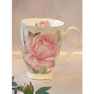 電子レンジ対応バラのマグカップ:ピンクローザ(cup001am)|happy-goods