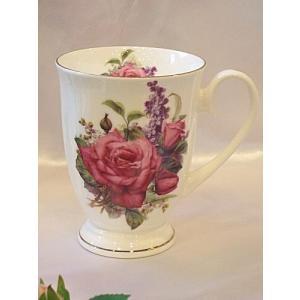 電子レンジ対応バラのマグカップ:レッドローザ(cup001ar)|happy-goods