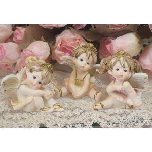 ちびっこフェアリー:3Pセット妖精 薔薇 姫 天使 エンジェル ロマンティック雑貨 ロマンチック雑貨 天使置物 フェアリー オブジェ 置物  ギフト プレ|happy-goods