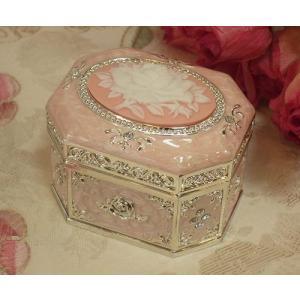 ローズカメオオルゴールボックス(ピンク)オルゴール 宝石箱 プレゼント おすすめ お祝い ギフト(ol007p)|happy-goods