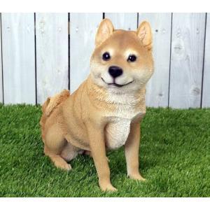 アニマルオブジェ:柴犬(親)おすわり |happy-goods