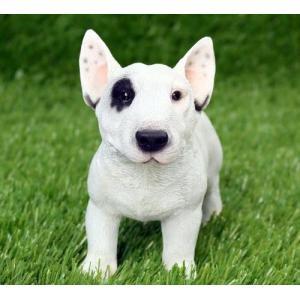 アニマルオブジェ:ブルテリア(子)犬 置物 インテリア 動物 オブジェ 子犬|happy-goods