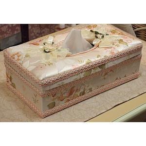 出し入れが簡単♪ティッシュボックス(ハードタイプ):エレガントローズ(ピンク)薔薇 ティッシュボックスカバー(rac012er)|happy-goods