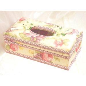 出し入れが簡単♪ティッシュボックス(ハードタイプ):ピンクローズ薔薇 ティッシュボックスカバー(rac012pr)|happy-goods