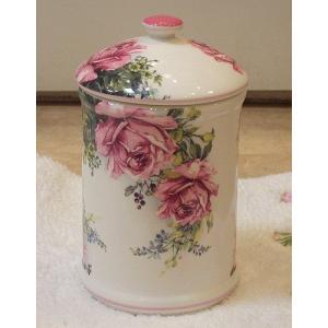 陶器のサニタリーポット:アンティークローズAサニタリーポット 陶器 トイレブラシ おしゃれ お掃除 汚物入れ トイレ用品(toi003pot)|happy-goods