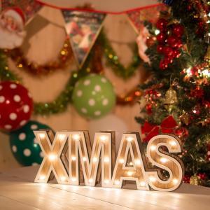 X'masレター 光る クリスマス 飾り 装飾 オーナメント イルミネーション デコレーション オブジェ クリスマスパーティー ホームパーティー|happy-joint|03