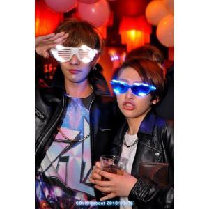 光るサングラス シャッター 全7色 | 光るメガネ led 発光 サングラス 眼鏡 おもしろ メガネ 光るグッズ 光るおもちゃ 名入れ 印字 ||happy-joint|06