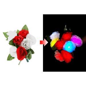 光るバラ レインボー ペンライト 光る薔薇 薔薇ペンら 光るフラワー キンプリ バラ バラペンラ 母の日 光る花 光る 花 LED造花 光るバラ 光るバラ販売|happy-joint|02