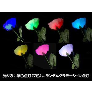 光るバラ レインボー ペンライト 光る薔薇 薔薇ペンら 光るフラワー キンプリ バラ バラペンラ 母の日 光る花 光る 花 LED造花 光るバラ 光るバラ販売|happy-joint|03