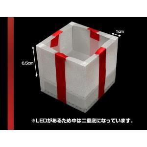 光るギフトボックス 光るプレゼントボックス 光る プレゼント 梱包 包装 贈り物 クリスマス 誕生日 小物 雑貨|happy-joint|03