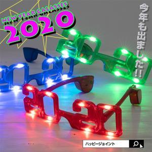 光る 2019サングラス  全3色  新年 カウントダウン ニューイヤー パーティー コンサート 2019 新年 お正月 初詣 LED おもしろメガネ おもしろサングラス|happy-joint