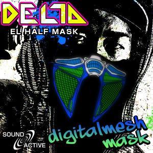 ELハーフマスク DELTA デジタルメッシュマスク ハロウィン コスプレ 衣装 光るマスク デジタル メッシュ LED マスク ステージ衣装 ライブ衣装 光る|happy-joint