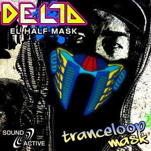 ELハーフマスク DELTA トランスループマスク ハロウィン コスプレ 衣装 光るマスク トランス ループ LED マスク ステージ衣装 ライブ衣装 光る コスチューム|happy-joint