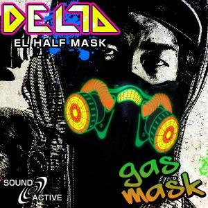 ELハーフマスク DELTA ガスマスク ハロウィン コスプレ 衣装 光るマスク ガス LED マスク ステージ衣装 ライブ衣装 光る コスチューム コスプレ フェイスマスク|happy-joint