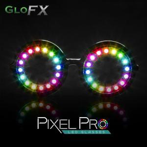 GloFX Pixel Pro LED ラウンドグラスタイプ 光る サングラス led メガネ 光るグッズ フェス ファッション EDM パーティー パリピ ダンス ダンサー|happy-joint